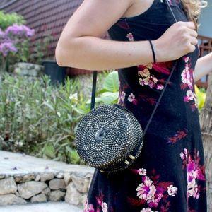Handbags - Small Woven Circle Bali Hand Bag